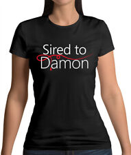 Sired To Damon - Womens T-Shirt - Vampire - Salvatore - Fan - Love - Merch - TV