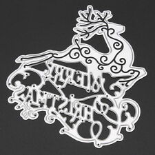 DIY Deer Metal Cutting Dies Stencil Scrapbook Album Paper Card Embossing Craft