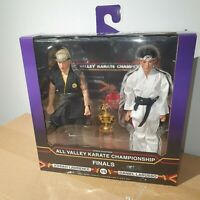 "NECA THE KARATE KID 1984 CLOTHED 8"" ACTION FIGURES TOURNAMENT 2 PACK SET 20cm"
