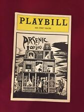Playbill Arsenic And Old Lace - 46th Street Theatre - July 1986 - Jean Stapleton
