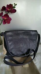 Radley Leather Crossbody Satchel Messenger Shoulder Bag Dark Navy Blue