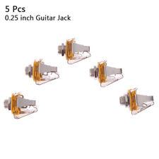 5 x 1/4 inch Metal Guitar Jack Socket Connector Female Panel Mount Bass G.l8