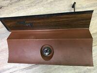 1970 71 72 OLDS CUTLASS SUPREME S USED OE GM GLOVE BOX DOOR (BROWN)