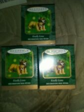 Lot of (3) 2000 Hallmark Keepsake Ornament Qxm5314 Kindly Lions Miniature