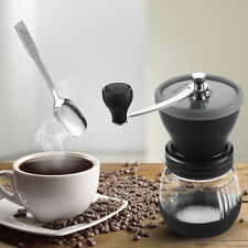 Mindkoo Manual Coffee Grinder Adjustable Ceramic Burr Mill Hand Crank With Spoon