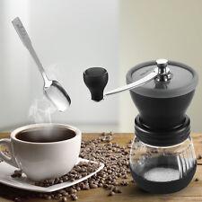 Mindkoo Manual Coffee Grinder Adjustable Ceramic Burr Mill Hand Crank With Spoon