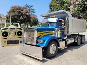 Custom Tamiya 1/14 R/C Grand Hauler convert Dump Truck Futaba ESC Upgrade Parts