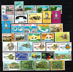 MALAYA MALAYSIA 1979-1981 COMPLETE SETS OF MNH STAMPS UNMOUNTED MINT