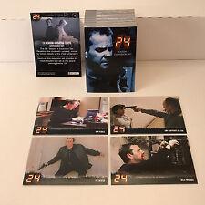 TWENTY FOUR (24) SEASON 4 EXPANSION (Artbox/2005) Complete Card Set w/ PROMO #P2