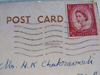 Vtg Medici Society PPC Signed Margaret W. Tarrant Queen Elizabeth II stamp 1955