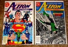 DC #601 & #602 ACTION COMICS WEEKLY SUPERMAN VF-NM HIGH GRADE BAG & BOARDED