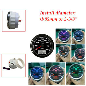 Digital Backlight 8K Tachometer W/Hourmeter For Car Boat SUV IP67 waterproof