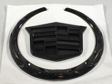 02-06 Cadillac Escalade Emblem Black Badge Logo Sticker Decal Grille Only