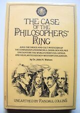 1978 1st Ed. THE CASE OF THE PHILOSOPHERS' RING (SHERLOCK HOLMES) w/DJ
