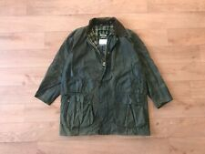 Barbour Men's Vintage Border Green Waxed Coat Jacket C44/112CM Fishing Hunting