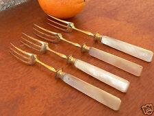 fourchette couvert fruit XIXe empire manche nacre no/couteau/argent massif 19th
