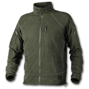 HELIKON TEX ALPHA TACTICAL GRID FLEECE RECON ARMY COLD WEATHER OLIVE GREEN