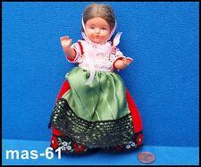 Plasticbaby Preh-Werke 14 cm muñeca Trachten Doll 50er años coleccionista B