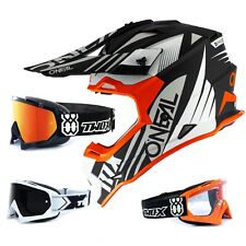 Oneal 2Series Rl Casco Cross Spyde 2.0 Naranja Negro TWO-X Race Gafas Motocross