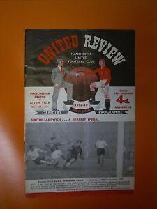 League Division One - Manchester United v Aston Villa - 26th December 1958