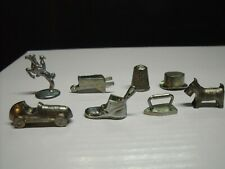 Vintage 8 pc set tokens for 1960's Monopoly Game Player Pieces Parker Brothers
