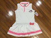 NWT Hello Kitty White Collared Sleeveless Tennis Dress Size 14 / 16   (HK-3)