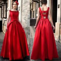Formal Women Elegant Cocktail Evening Party Dress Ball Gown Long Maxi Prom Dress