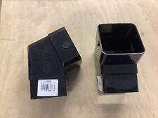 Pack of 2 SQUARE LINE 112.5° OFFSET BEND 65MM BLACK 158868