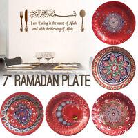 10x Red Moon Lantern Ramadan Eid Mubarak Muslim Paper Plate Dinner Party Decor