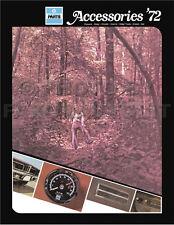1972 Dodge Accessories Parts Catalog Challenger Coronet Charger Dart Truck Van