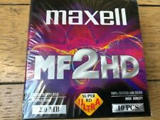 """Old Stock MAXELL 3.5"""" 1.44 MB HD Floppy Discs for IBM Ps/2 Mf2hd"""