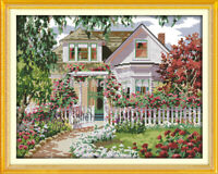 """Garden Villa"" Printed kit for Needlework Embroidery"