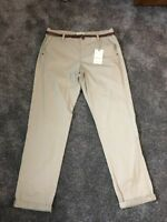 M&S 100% Cotton Stone Chinos Trousers Size 14 Long Bnwt Free Same day Postage