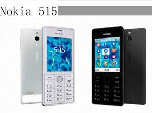"""Original Nokia 515 2G 3G GSM 2.4"""" Bluetooth Single Dual SIM 5MP Cellphone"""