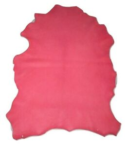 Premium Pink Grain Sheepskin Leather Hide Soft 2.5 oz Sheep Skin