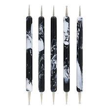 Fashion 5Pcs Black Style Dotting Pens 2-Ways Nail Design Set Nail Art Tools Sale