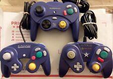 3x LOT Indigo Gamecube Controllers - Nintendo OEM, Superpad, Starpad GD+ fr/shp