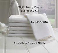 100% COTTON SOFT MUSLIN FABRIC per Metre Premium Cloth Craft Material 150cm wide