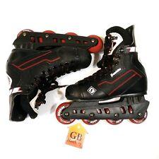 7 Size Men's Inline Skates Franklin brand RH 1085 Roller Hockey 70mm Black -551-