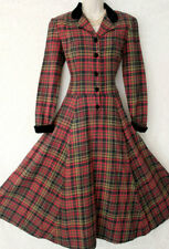 Laura Ashley Vintage Tartan Christmas Plaid Riding Dress USA 6