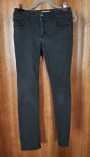 So Slimming Chico's Black Cotton Blend Jeans Skinny Leg Women's Size 00 (2)