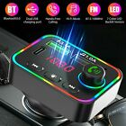 Bluetooth 5.0 FM Transmitter Hands-Free Radio MP3 AUX-Adapter USB PD Charger-Car