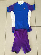 Pearl Izumi Women's Cycling Jersey and Padded Shorts Purple/Blue/White  Size 10