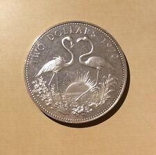 "Bahamas Two Dollars ""You Grade It"" 1970 - Proof Finish - Two Flamingos"