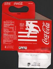 Coca Cola Cardboard 4-Pack Bottle Case - 2012 London Olympic Games Carrier