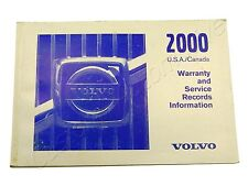 2000 VOLVO WARRANTY & SERVICE RECORDS MANUAL CANADA & USA owners booklet guide