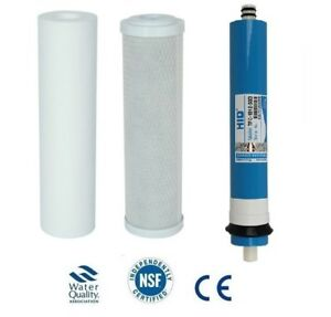 L13 3 Stage Reverse Osmosis RO Complete Filter Replacement 50 100 150 Membrane