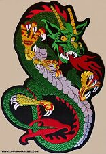 HUGE CHINESE DRAGON PATCH -  12 INCH FIRE BREATHING - NEW VEST PATCH