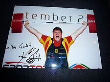 MATTHIAS STEINER signed  Autogramm  20x25 In Person Gold Olympia 2008 GEWICHT
