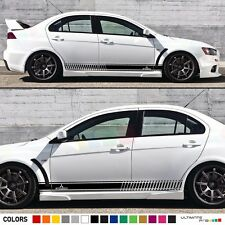 Decal Sticker Stripe Kit For Mitsubishi Lancer Evolution Evo 10 X Spoiler Lip